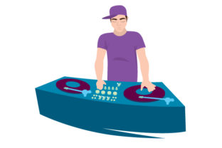 DJ with Turntables Craft Design By Creative Fabrica Crafts