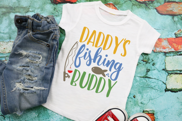 Download Free Daddy S Fishing Buddy Svg Graphic By Morgan Day Designs SVG Cut Files