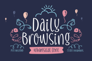 Daily Browsing Font By Situjuh