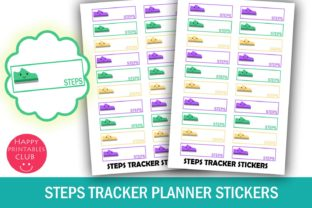 Daily Steps Tracker Planner Stickers Graphic By Happy Printables Club