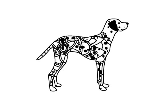 Dalmation. Mandala Line Art Style (for Coloring Book) Dogs Craft Cut File By Creative Fabrica Crafts - Image 1