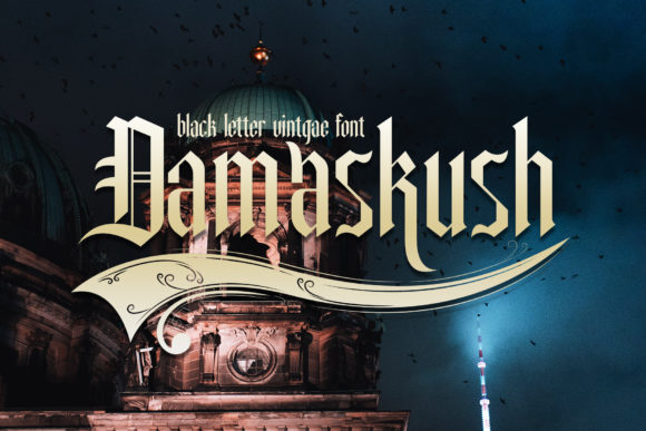 Damaskush Display Font By gumacreative