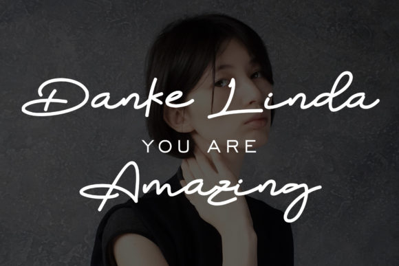 Print on Demand: Danke Linda Script & Handwritten Font By aldedesign