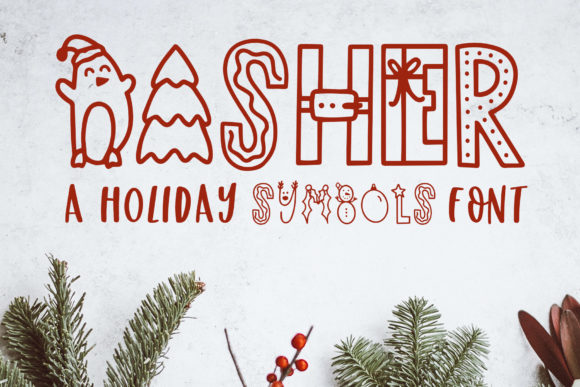 Print on Demand: Dasher Decorative Font By jordynalisondesigns