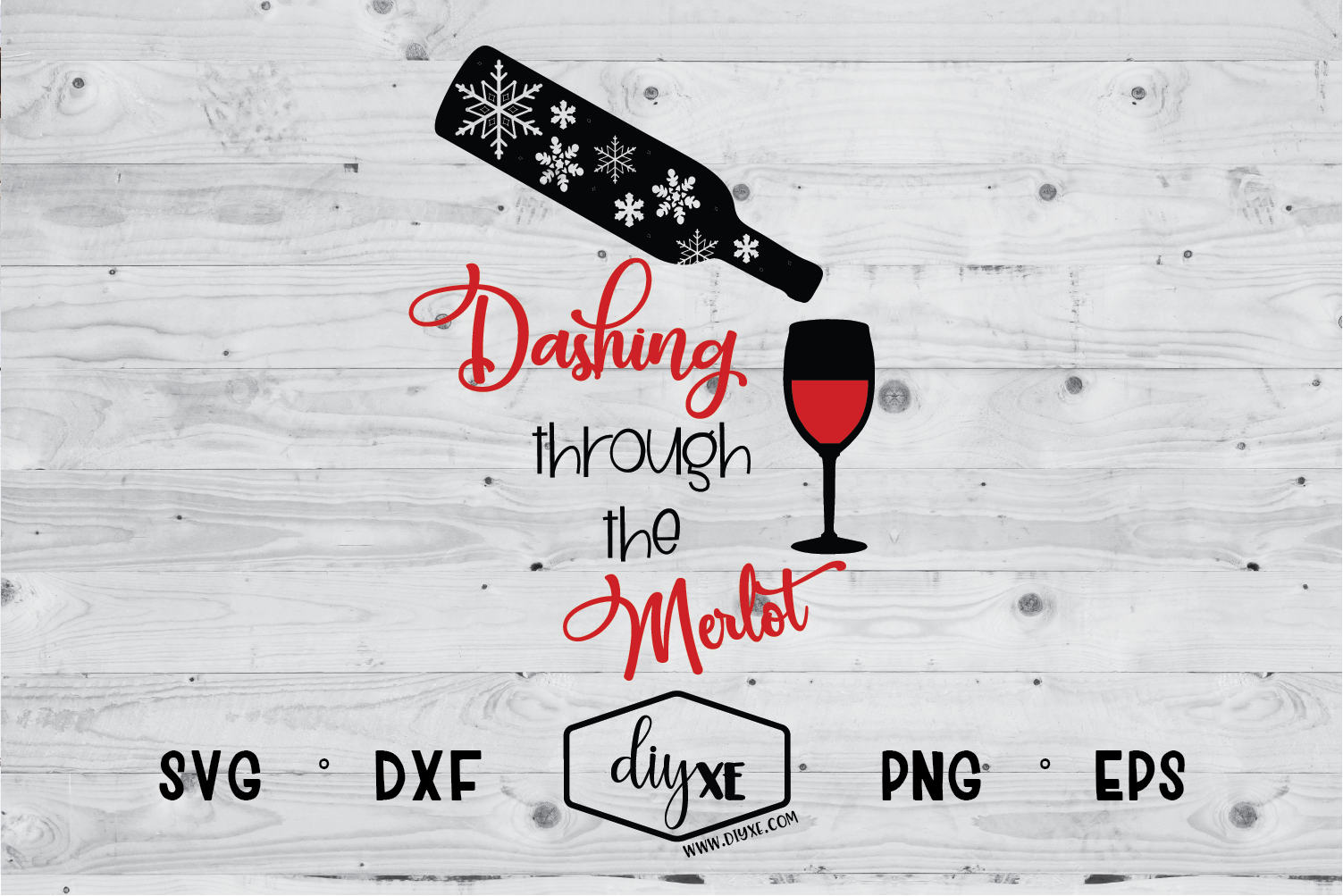 Download Free Dashing Through The Merlot Grafico Por Sheryl Holst Creative for Cricut Explore, Silhouette and other cutting machines.