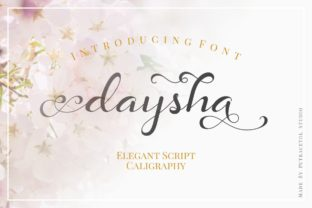 Download Free Daysha Font By Putracetol Creative Fabrica SVG Cut Files