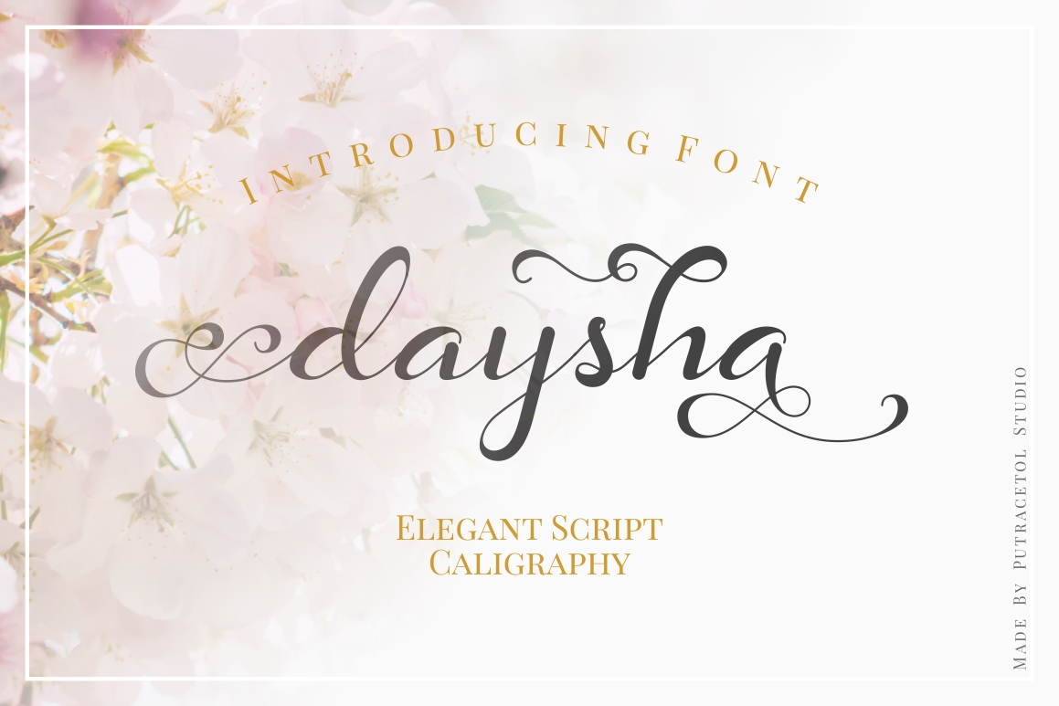 Download Free Daysha Font By Putracetol Creative Fabrica for Cricut Explore, Silhouette and other cutting machines.