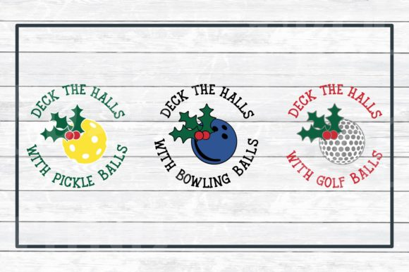 Download Free Deck The Halls Ornament Design Bundle Graphic By for Cricut Explore, Silhouette and other cutting machines.