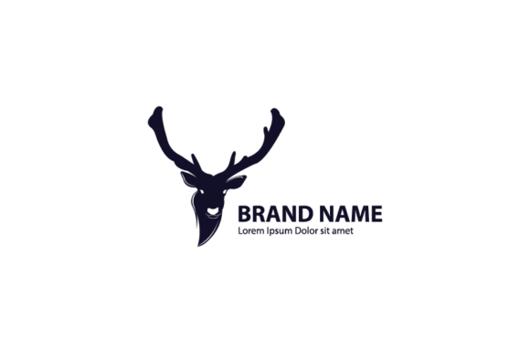Download Free Deer Head Logo Template Graphic By Nirmala Graphics Creative for Cricut Explore, Silhouette and other cutting machines.