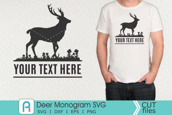 Deer Monogram Svg, Deer Svg, Deer Dxf Graphic Crafts By Pinoyartkreatib