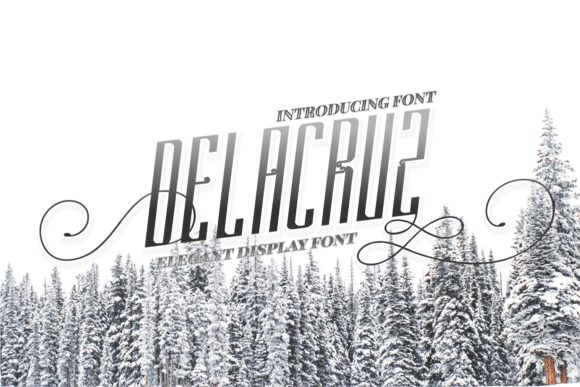 Print on Demand: Delacruz Display Font By putracetol