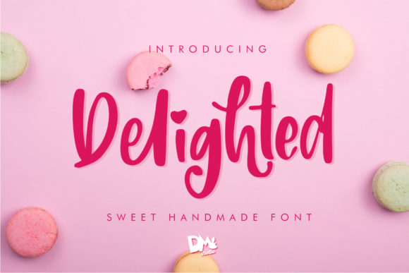 Delighted Script & Handwritten Font By dmletter31