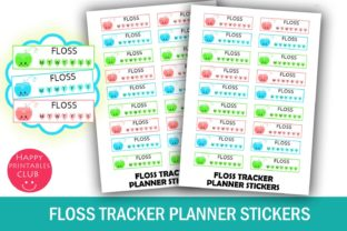 Dental Floss Tracker Planner Stickers Graphic By Happy Printables Club