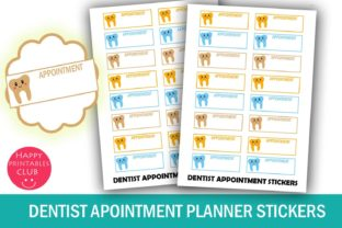 Dentist Appointment Planner Stickers Graphic By Happy Printables Club