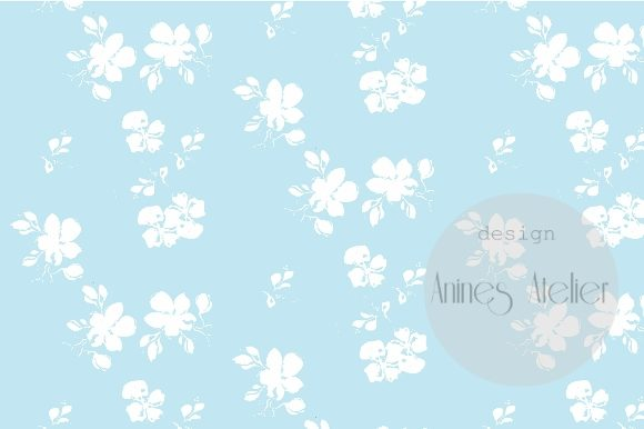 Print on Demand: Digital Paper Blue Popsicles Summer Graphic Patterns By Anines Atelier - Image 2