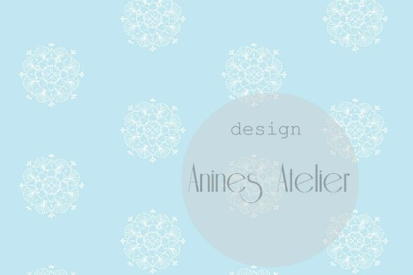 Print on Demand: Digital Paper Blue Popsicles Summer Graphic Patterns By Anines Atelier - Image 4