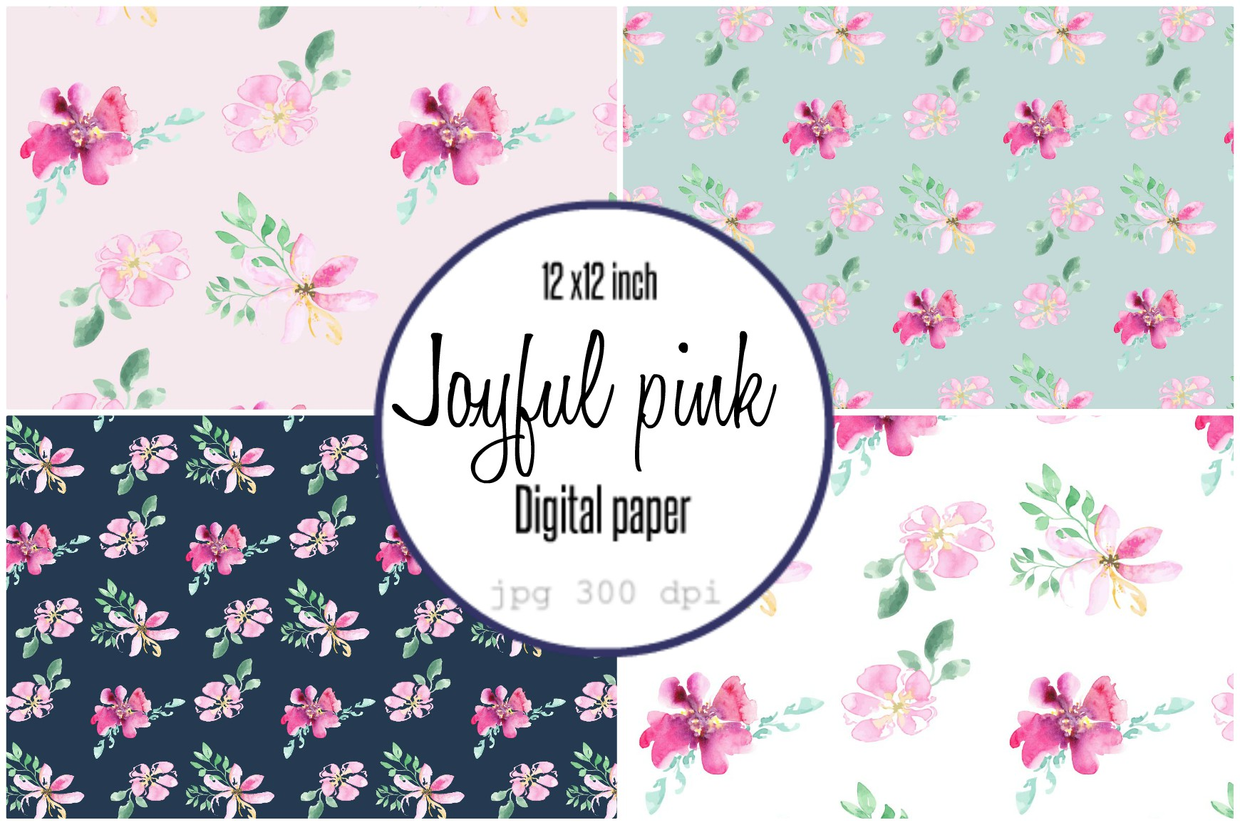 Download Free Digital Paper Loose Watercolor Flowers Graphic By Anines Atelier for Cricut Explore, Silhouette and other cutting machines.