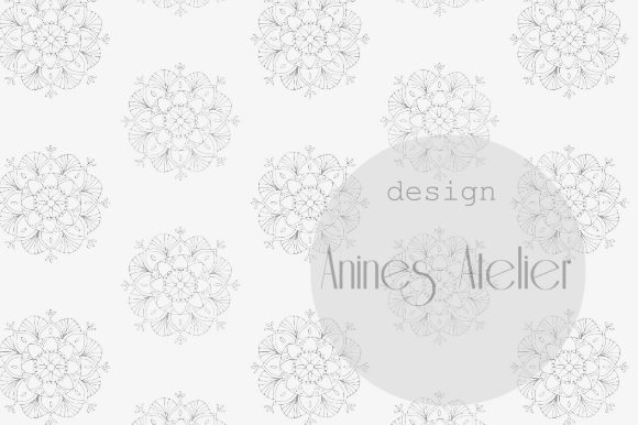 Download Free Digital Paper Rose Petals And Mandalas Graphic By Anines for Cricut Explore, Silhouette and other cutting machines.