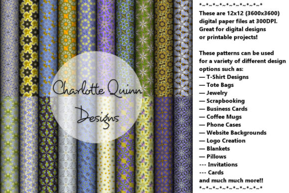 Print on Demand: Digital Papers 170 Graphic Patterns By Digital Pattern Club