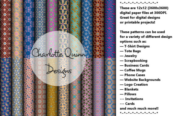 Print on Demand: Digital Papers 175 Graphic Patterns By Digital Pattern Club
