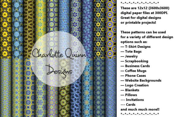 Print on Demand: Digital Papers 177 Graphic Patterns By Digital Pattern Club