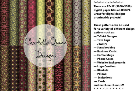 Print on Demand: Digital Papers 183 Graphic Patterns By Digital Pattern Club