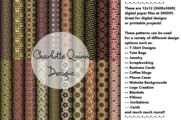 Print on Demand: Digital Papers 184 Graphic Patterns By Digital Pattern Club
