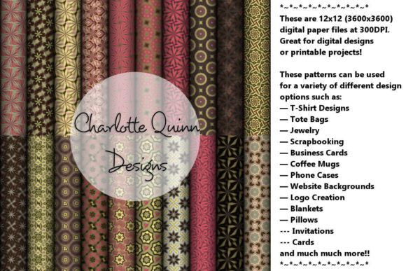Print on Demand: Digital Papers 186 Graphic Patterns By Digital Pattern Club