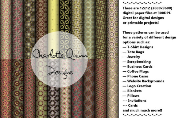 Print on Demand: Digital Papers 187 Graphic Patterns By Digital Pattern Club