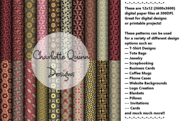 Print on Demand: Digital Papers 188 Graphic Patterns By Digital Pattern Club