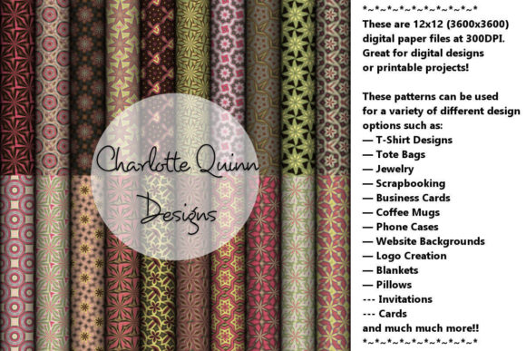 Print on Demand: Digital Papers 189 Graphic Patterns By Digital Pattern Club