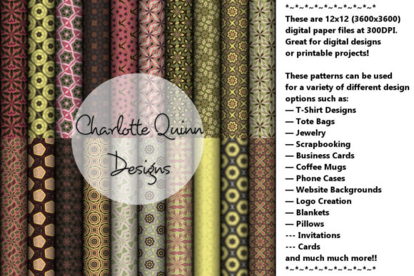 Print on Demand: Digital Papers 190 Graphic Patterns By Digital Pattern Club
