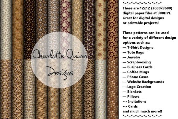 Print on Demand: Digital Papers 195 Graphic Patterns By Digital Pattern Club
