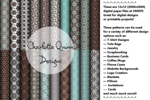 Print on Demand: Digital Papers 162 Graphic Patterns By Digital Pattern Club