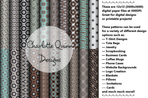 Print on Demand: Digital Papers 164 Graphic Patterns By Digital Pattern Club