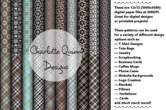 Print on Demand: Digital Papers 165 Graphic Patterns By Digital Pattern Club