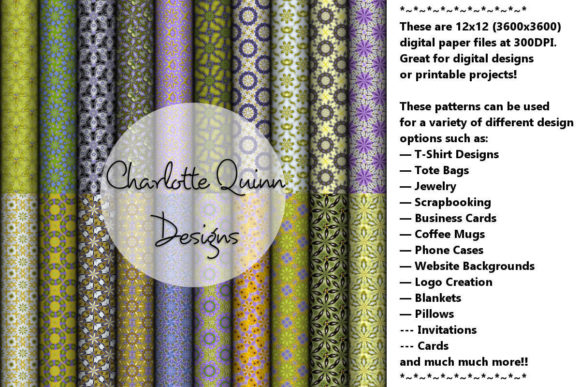 Print on Demand: Digital Papers 166 Graphic Patterns By Digital Pattern Club