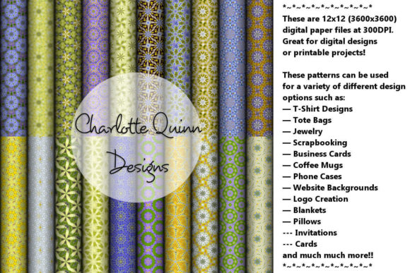 Print on Demand: Digital Papers 171 Graphic Patterns By Digital Pattern Club