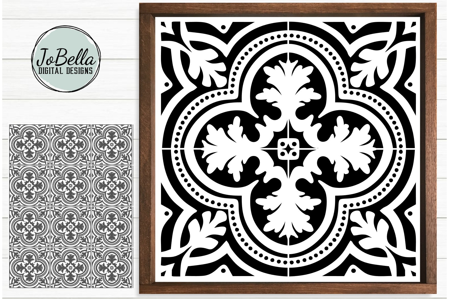 Download Free Digital Tile Sublimation Print Graphic By Jobella Digital for Cricut Explore, Silhouette and other cutting machines.