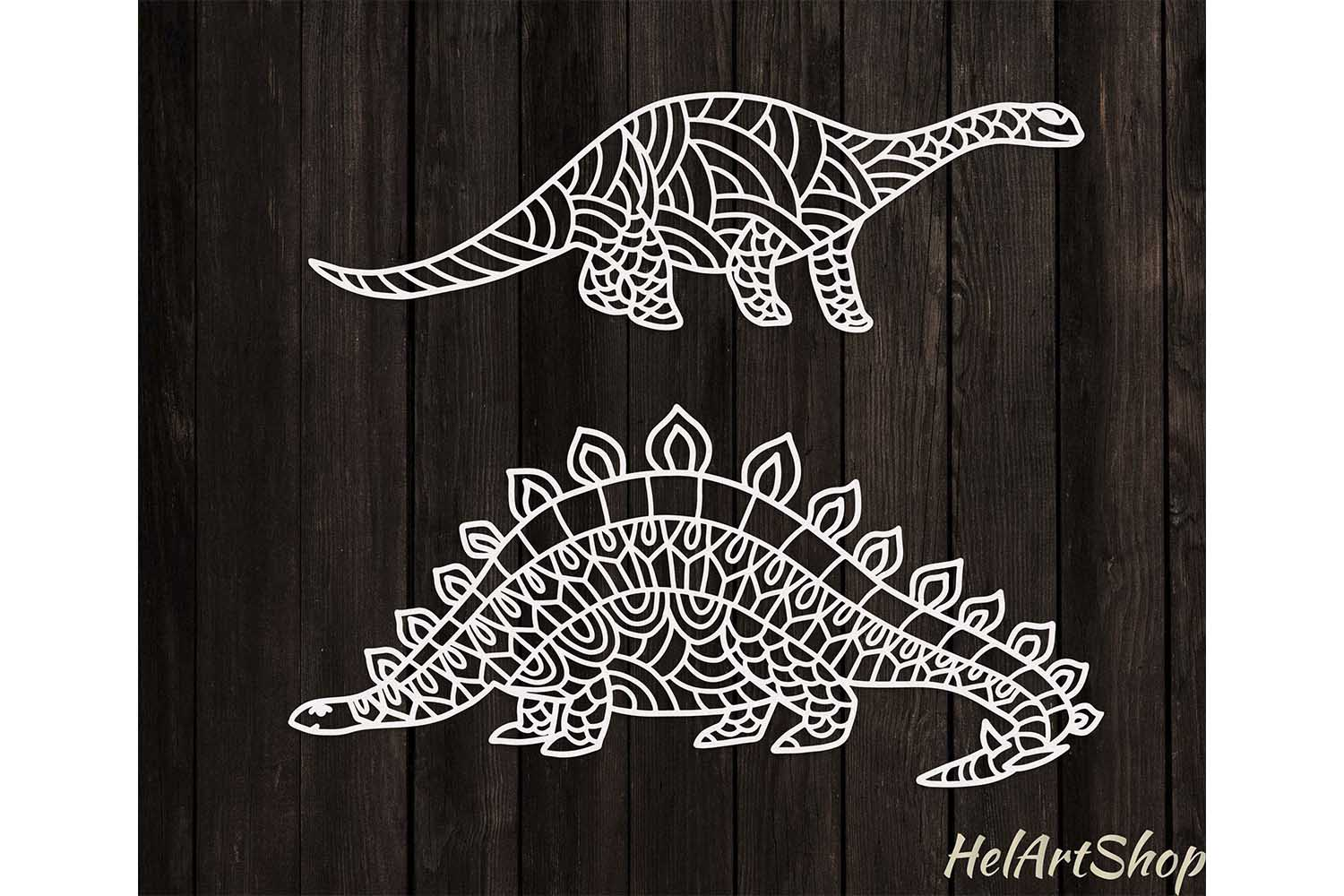Download Free Dinosaur Bundle Graphic By Helartshop Creative Fabrica for Cricut Explore, Silhouette and other cutting machines.