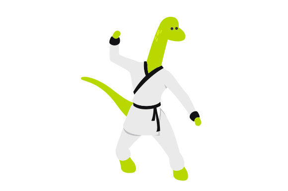 Dinosaur Doing Kung Fu Dinosaurs Craft Cut File By Creative Fabrica Crafts