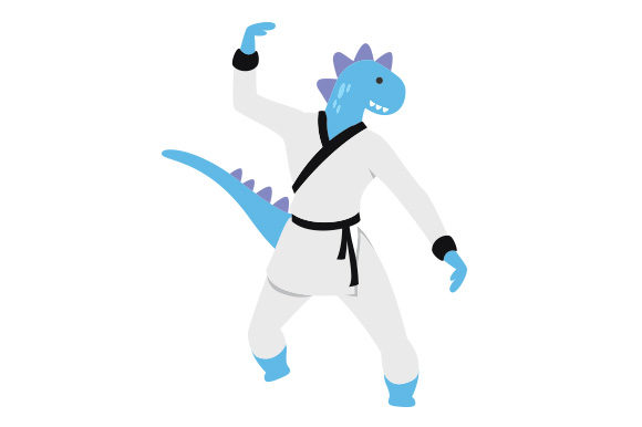 Download Free Dinosaur Doing Kung Fu Svg Cut File By Creative Fabrica Crafts for Cricut Explore, Silhouette and other cutting machines.