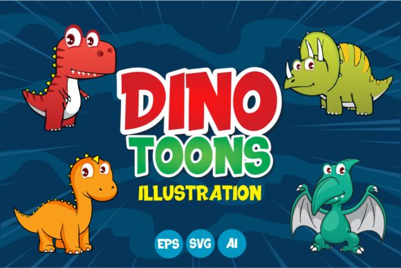 Print on Demand: Dinotoons Graphic Illustrations By fachranheit