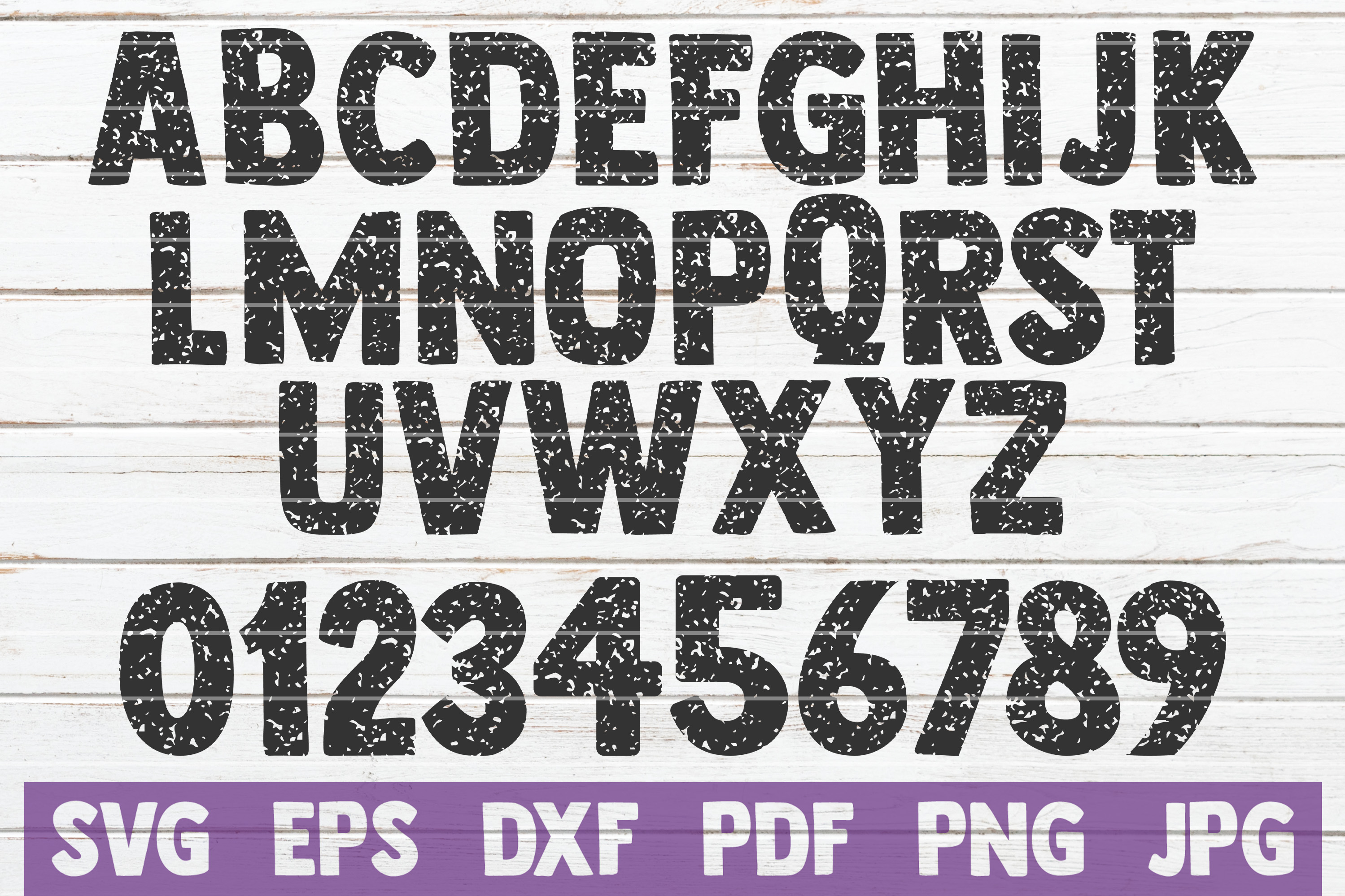 Download Free Distressed Alphabet And Numbers Svg Graphic By Mintymarshmallows for Cricut Explore, Silhouette and other cutting machines.