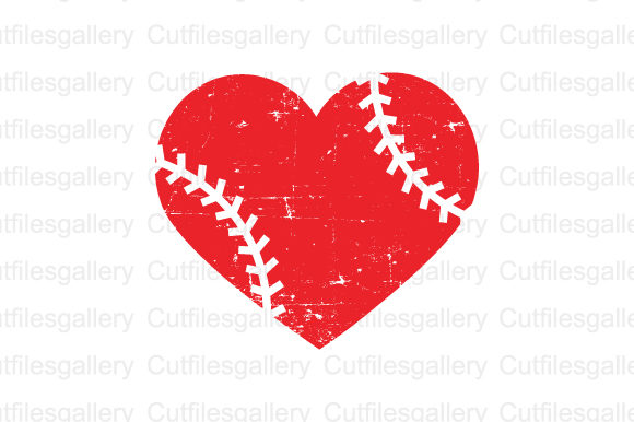 Download Free Distressed Baseball Heart Svg Graphic By Cutfilesgallery for Cricut Explore, Silhouette and other cutting machines.