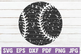 Download Free Distressed Baseball Cut File Graphic By Mintymarshmallows for Cricut Explore, Silhouette and other cutting machines.