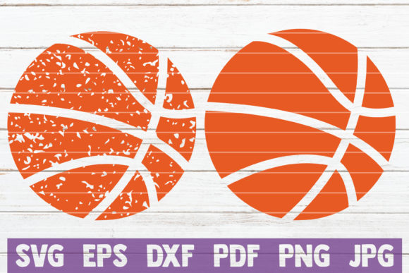Download Free Distressed Basketball Cut File Graphic By Mintymarshmallows for Cricut Explore, Silhouette and other cutting machines.
