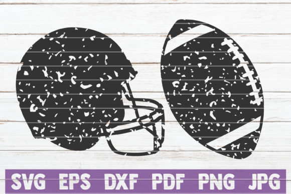 Download Free Distressed Football Cut Files Graphic By Mintymarshmallows for Cricut Explore, Silhouette and other cutting machines.