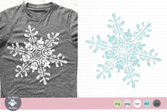 Distressed Snowflake Graphic Crafts By thejaemarie - Image 1