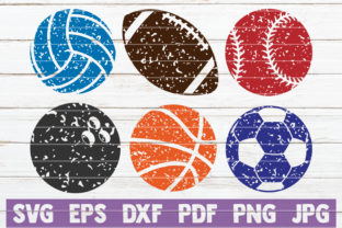 Download Free Distressed Sports Bundle Cut Files Graphic By for Cricut Explore, Silhouette and other cutting machines.